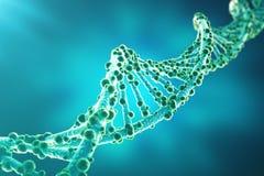 Concept de la biochimie avec la structure d'ADN sur le fond bleu concept de médecine du rendu 3d illustration libre de droits
