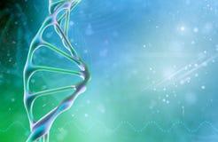 Concept de la biochimie avec la molécule d'ADN sur le fond de couleur Fond de concept de la Science illustration de vecteur