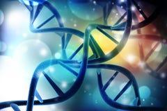 Concept de la biochimie avec la structure d'ADN à l'arrière-plan médical de technologie illustration libre de droits