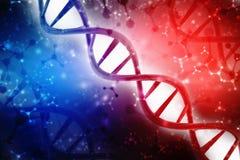 Concept de la biochimie avec la structure d'ADN à l'arrière-plan médical de technologie illustration stock
