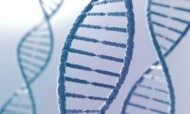 Concept de la biochimie, fond d'abrégé sur molécule d'ADN illustration stock