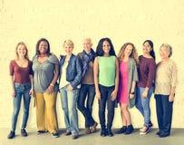 Concept de la Communauté d'unité d'amitié de filles Images libres de droits