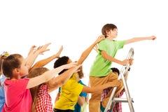 Concept de la compétitivité dans les enfants Photographie stock libre de droits