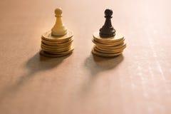 Concept de la concurrence financière d'affaires Photographie stock