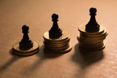 Concept de la concurrence financière d'affaires Image libre de droits
