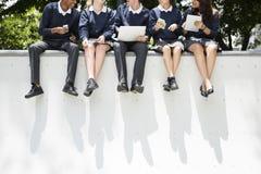 Concept de la connaissance de personnes d'étudiants d'éducation image libre de droits