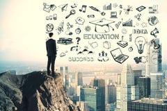 Concept de la connaissance et d'id?e photo libre de droits