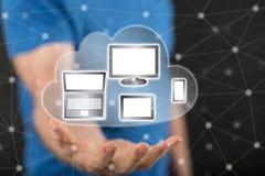 Concept de la connexion de dispositifs images libres de droits