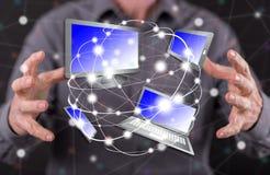Concept de la connexion de dispositifs photographie stock libre de droits