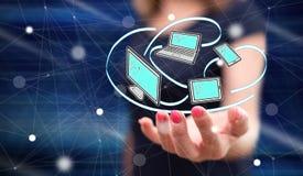 Concept de la connexion de dispositifs image libre de droits