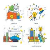 Concept de la créativité, vision, la connaissance, génération d'idée Photo libre de droits