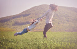 Concept de la famille heureux photographie stock libre de droits