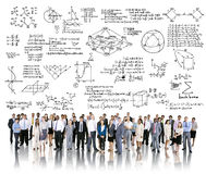 Concept de la géométrie de symbole mathématique de mathématiques de formule Photographie stock libre de droits