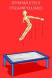 Concept de la gymnastique avec le mannequin humain en bois Image stock