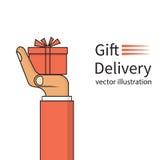 Concept de la livraison de cadeau illustration de vecteur