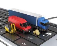 Concept de la livraison en ligne d'ordre illustration de vecteur