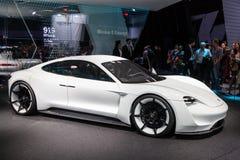 Concept de la mission E de Porsche à l'IAA 2015 Image stock