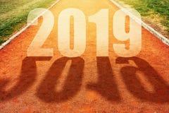 Concept de la nouvelle année 2019 images libres de droits
