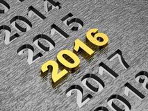 Concept de la nouvelle année 2016 illustration libre de droits