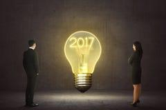 Concept de la nouvelle année 2017 Photographie stock libre de droits