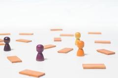 Concept de la pensée, la recherche des solutions, les jeux d'esprit Images libres de droits