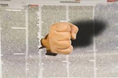 Concept de la polémique de la déclaration et de la liberté de la déclaration dans le media Photographie stock libre de droits