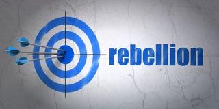Concept de la politique : cible et rébellion sur le fond de mur Photographie stock