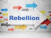 Concept de la politique : flèche avec la rébellion sur le fond grunge de mur illustration de vecteur