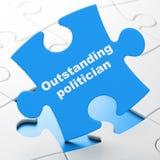 Concept de la politique : Politicien exceptionnel sur le fond de puzzle illustration libre de droits