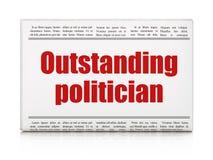 Concept de la politique : politicien exceptionnel de titre de journal illustration stock