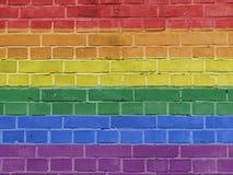 Concept de la politique : Pride Flag Wall gai illustration de vecteur