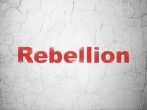 Concept de la politique : Rébellion sur le fond de mur illustration libre de droits