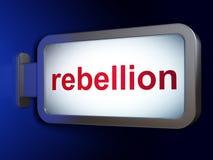 Concept de la politique : Rébellion sur le fond de panneau d'affichage Photos libres de droits