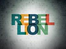Concept de la politique : Rébellion sur le fond de papier de données numériques Photo libre de droits