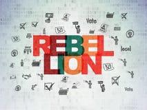 Concept de la politique : Rébellion sur le fond de papier de données numériques Photographie stock