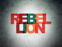 Concept de la politique : Rébellion sur le fond de papier de données numériques illustration de vecteur