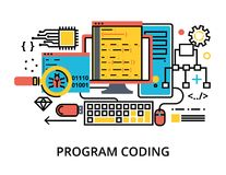 Concept de la programmation, du logiciel de développement et du codage Images stock