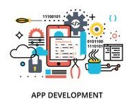 Concept de la programmation, logiciel de développement Photographie stock