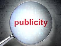 Concept de la publicité : Publicité avec le verre optique Image libre de droits
