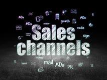 Concept de la publicité : Canaux de ventes dans l'obscurité grunge illustration de vecteur