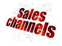 Concept de la publicité : Canaux de ventes sur le fond de Digital illustration stock