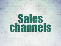 Concept de la publicité : Canaux de ventes sur le fond de papier de données numériques illustration de vecteur