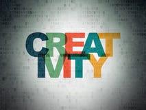 Concept de la publicité : Créativité sur le fond de papier de données numériques Image libre de droits