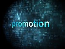Concept de la publicité : Promotion sur le fond numérique Images stock