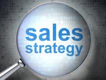 Concept de la publicité : Stratégie de ventes avec le verre optique Photos stock