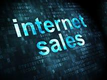 Concept de la publicité : Ventes d'Internet sur le fond numérique Images stock