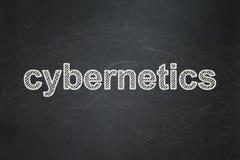 Concept de la Science : Cybernétique sur le fond de tableau illustration stock