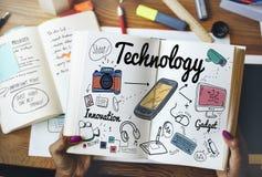 Concept de la Science d'Internet d'innovation de Digital de technologie photo libre de droits