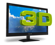 concept de la télévision 3D Photo libre de droits