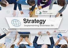 Concept de la tactique de processus de planification de vision de stratégie photo libre de droits